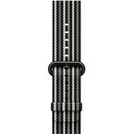 Apple 42mm Černý z tkaného nylonu (proužky)