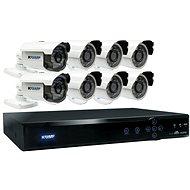 KGUARD hybridní 16kanálový DVR rekordér + 8x barevná venkovní kamera