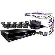 KGUARD hybridní 4kanálový DVR rekordér + 4x barevná venkovní kamera