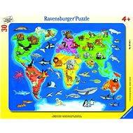 Ravensburger Mapa světa se zvířaty