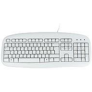 Logitech Value Keyboard CZ, bílá