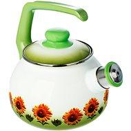 Metalac Smaltovaný čajník 2.5l, dekor slunečnice