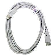 Kabel OEM USB 2.0 prodlužovací A-A šedý, 5m