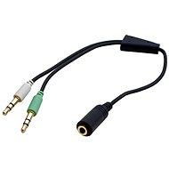 OEM audio 4pólový 3.5mm JACK --> 2x 3.5mm JACK