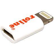 ROLINE USB pro Apple s konektorem 8pin(M) - micro USB B(F) bílá