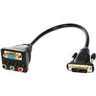 OEM DVI --> Component + VGA (DVI-A <-> RGB, VGA), vhodné pro HDTV