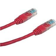 Datacom CAT5E UTP červený 0.5m