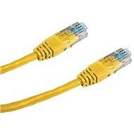 Datacom CAT5E UTP žlutý 0.5m