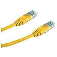 Datacom, CAT6, UTP, 0.25m žlutý