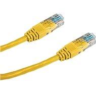 Datacom CAT5E UTP žlutý 1m