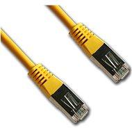 Datacom CAT5E FTP žlutý 0.5m