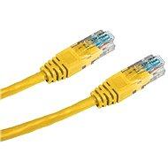 Datacom CAT5E UTP žlutý 0.25m