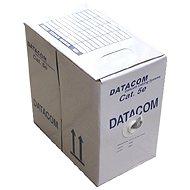 Datacom, licna (lanko), CAT5E, UTP, 305m/box zelený