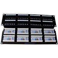 Datacom, 48x RJ45, přímý, CAT5E, UTP, černý, 2U, LSA
