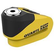 OXFORD zámek kotoučové brzdy Quartz Alarm XA10,  (integrovaný alarm, žlutý/černý, průměr čepu 10mm)