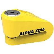 OXFORD zámek kotoučové brzdy Alpha XD14,  (žlutý, průměr čepu 14mm)
