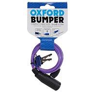 OXFORD zámek Bumper Cable Lock, fialový 60cm
