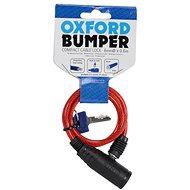 OXFORD zámek na motocykl Bumper Cable Lock,  (červený, délka 0,6m)