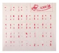 Přelepky na klávesnici, CZ červené
