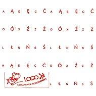Přelepky na klávesnice, červené, polské