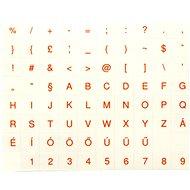 Přelepky na klávesnice, maďarské, červené