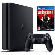 PlayStation 4 - 500 GB Slim + Wolfenstein II: The New Colossus