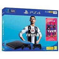 PlayStation 4 1TB Slim + FIFA 19 + extra DualShock 4