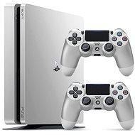 Sony PlayStation 4 - 500GB Slim Stříbrný - 2x DS4 v balení
