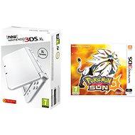 Nintendo NEW 3DS XL Pearl White + Pokemon Sun