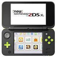 Nintendo NEW 2DS XL Black & Lime Green + Mario Kart 7