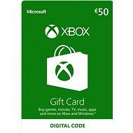 Microsoft Xbox Live Dárková karta v hodnotě 50 Eur