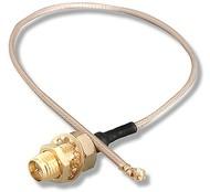 Redukce (pigtail), 2,4/ 5GHz, SMA reverzní-Male na U.FL-Female - kabelová, 20cm