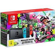 Nintendo Switch - Neon + Splatoon 2
