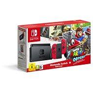Nintendo Switch - Red + Super Mario Odyssey