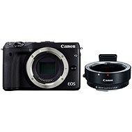 Canon EOS M3 černý + adaptér pro EF/EF-S objektivy