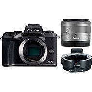 Canon EOS M5 + 15-45mm STM stříbrný + adaptér EF-EOS M