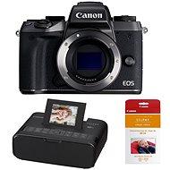 Canon EOS M5 tělo černý + Canon SELPHY CP1200 černá + papíry RP-54
