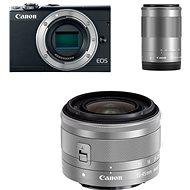 Canon EOS M100 černý + M15-45mm stříbrný + M55-200mm stříbrný