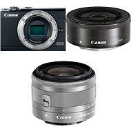 Canon EOS M100 černý + M15-45mm stříbrný + M 22mm