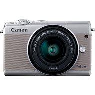 Canon EOS M100 šedý + M15-45mm stříbrný