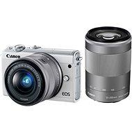 Canon EOS M100 bílý + M15-45mm stříbrný + M55-200mm stříbrný