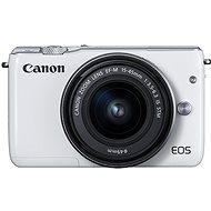 Canon EOS M100 bílý + M15-45mm stříbrný + M 22mm