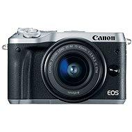 Canon EOS M6 stříbrný + EF-M 15-45mm + 55-200mm