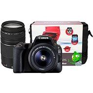 Canon EOS 200D černý + 18-55mm DC III + 75-300mm DC III + Canon Starter Kit
