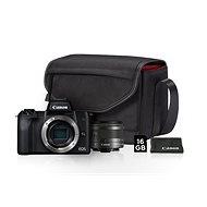 Canon EOS M50 černý + EF-M 15-45 mm IS STM Value Up Kit