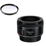 Canon EF 50mm F1.8 STM + UV filtr Hama 0-HAZE