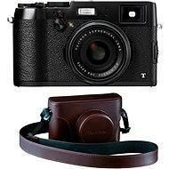 Fujifilm X100T Black + hnědé kožené pouzdro