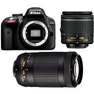 Nikon D3300 černý + 18-55 AF-P VR + 70-300 AF-P VR