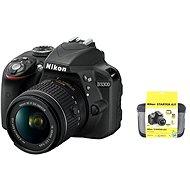 Nikon D3300 + Objektiv 18-55 AF-P + Nikon Starter Kit + dalekohled Nikon Aculon T01