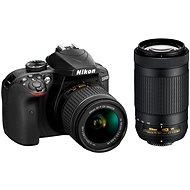 Nikon D3400 černý + 18-55mm VR + 70-300 VR